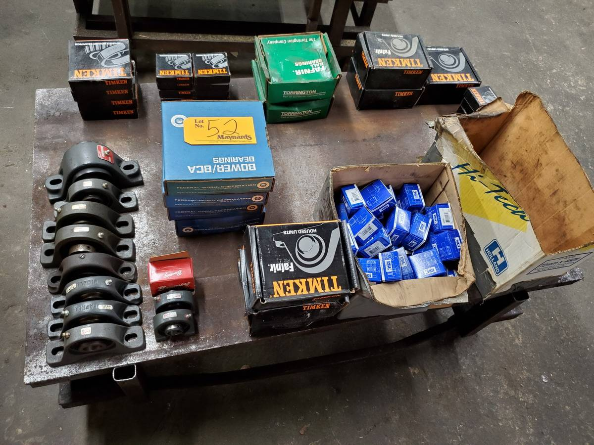 Lot 52 - Various Mfg's: Timken,Bower/BCA,etc Bearings