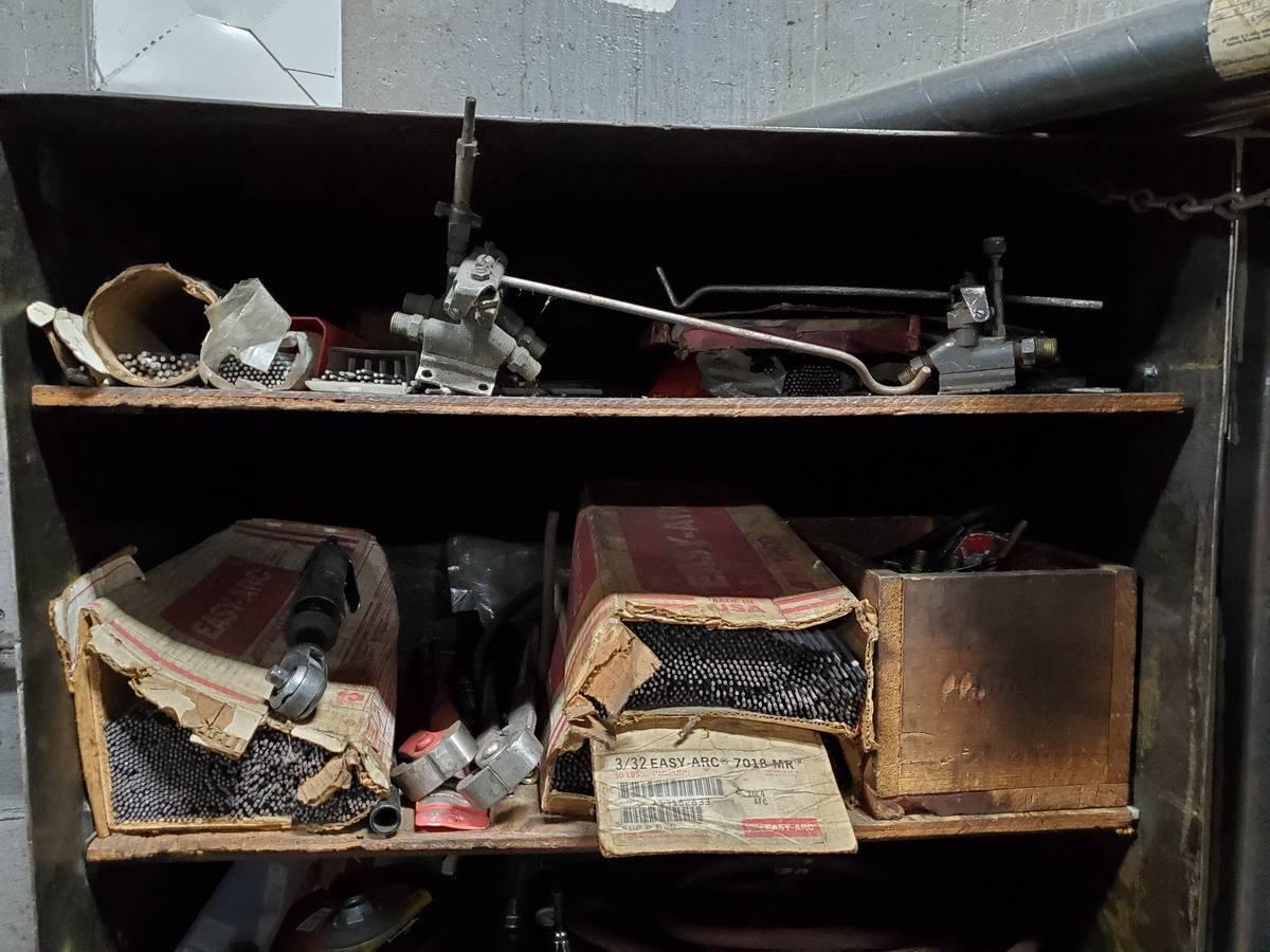Metal Welding Storage Locker W/ Contents - Image 7 of 7