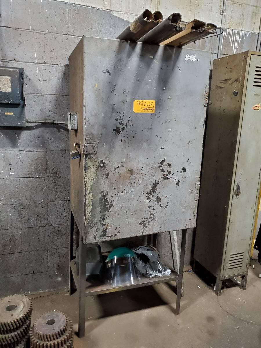 Metal Welding Storage Locker W/ Contents