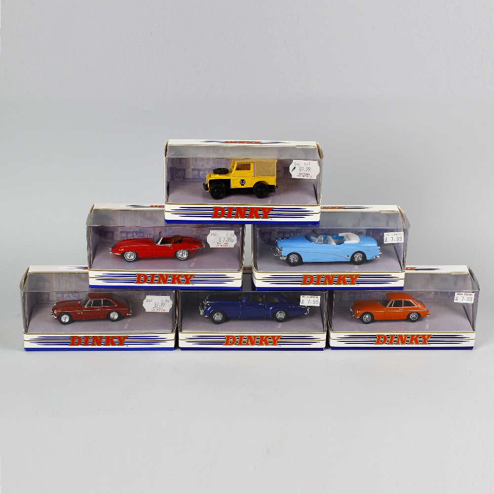 Lot 499 - A box containing 51 Matchbox Dinky diecast model vehicles. To include sports cars and other
