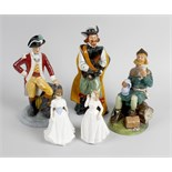 A group of five Royal Doulton figures. Comprising 'Cavalier' HN2718, 10 (26 cm), 'Robin Hood'
