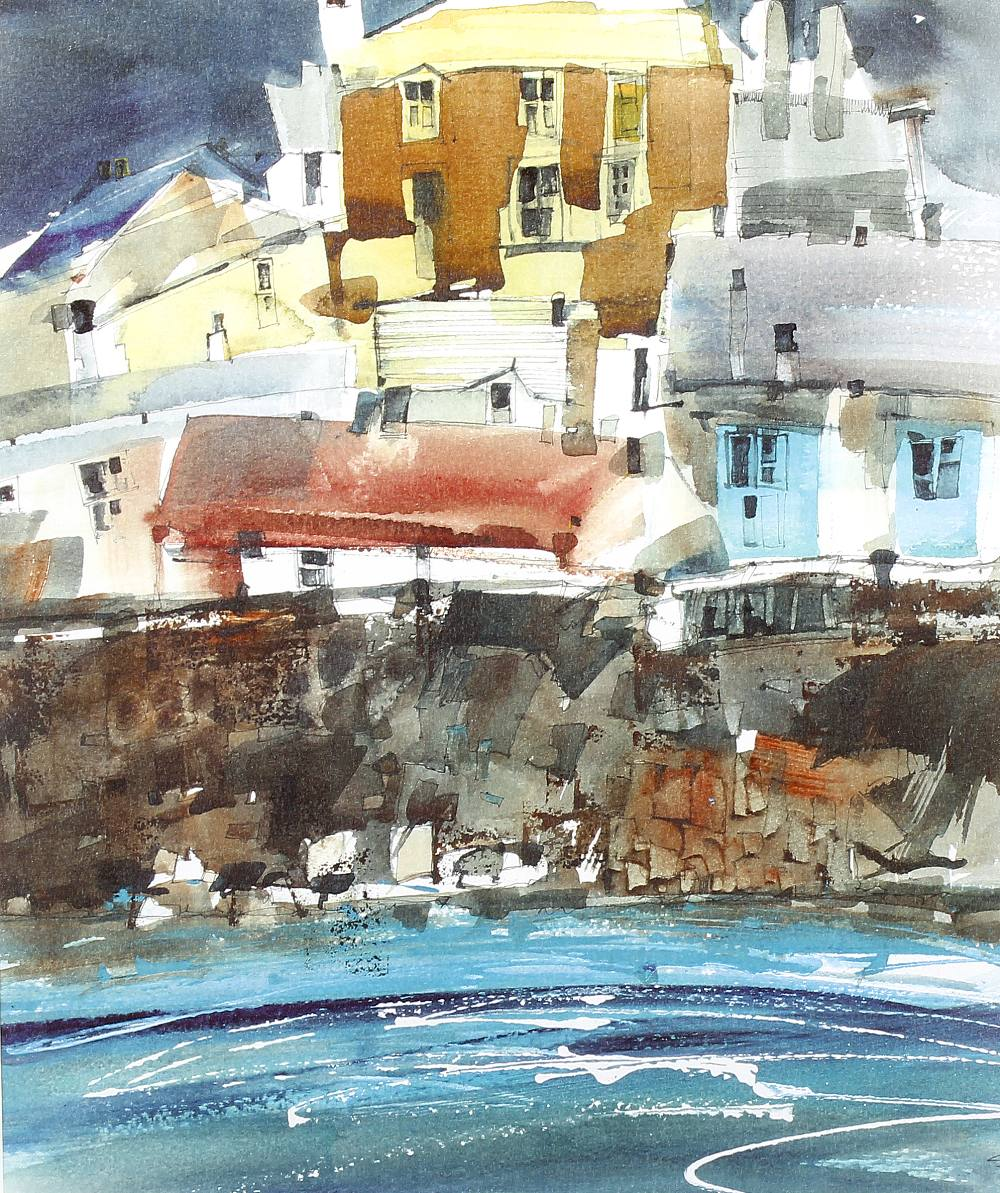 Lot 637 - Sue Howells (1948-)'Polperro Harbour'Limited edition print 1/4Signed and dated 9913.5 x 11.25 (34.