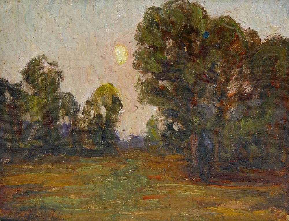 Lot 702 - Franklin White (1892-1975)Five Studio dispersal works: three landscape oils on board, a similar
