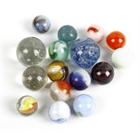 A case containing almost 300 marbles. To include onion skins, swirls, cats eyes and plain