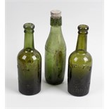 Two boxes containing a large collection of assorted glass bottles Shropshire interest, to include