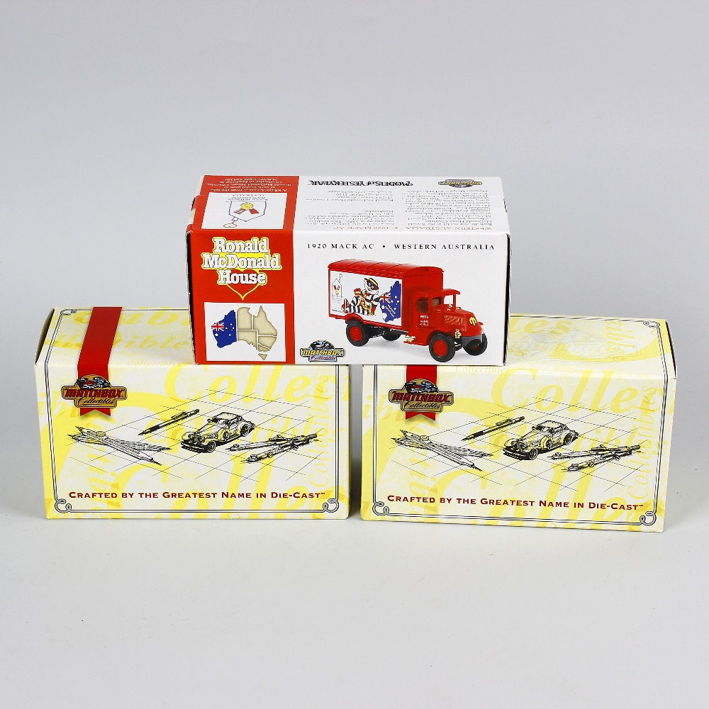 Lot 505 - A box containing 40 Matchbox Models of Yesteryear diecast model cars and other vehicles, each in
