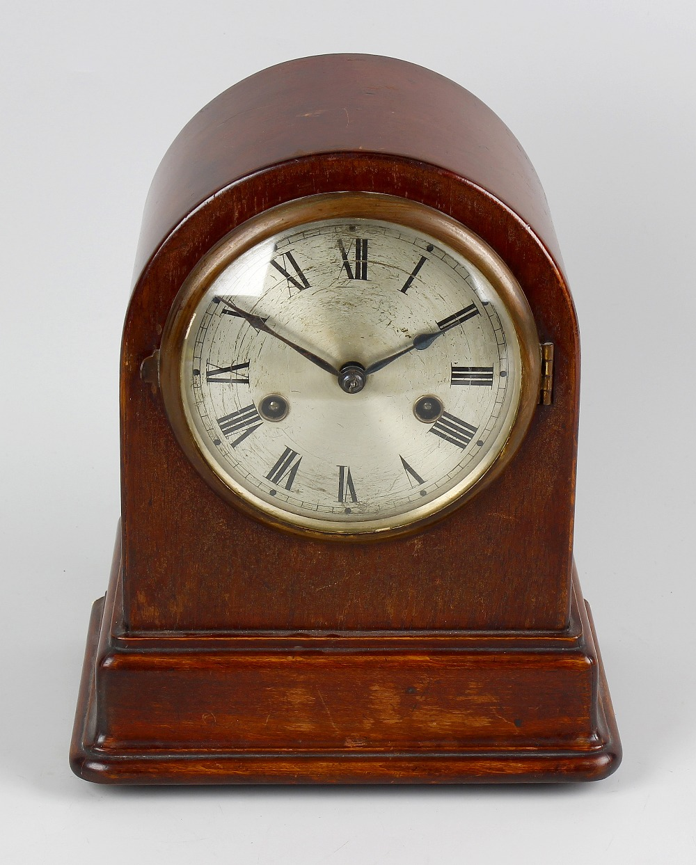 Lot 781 - Two early 20th century mantel clocks. Comprising a mahogany example by Gustav Becker with 5 silvered