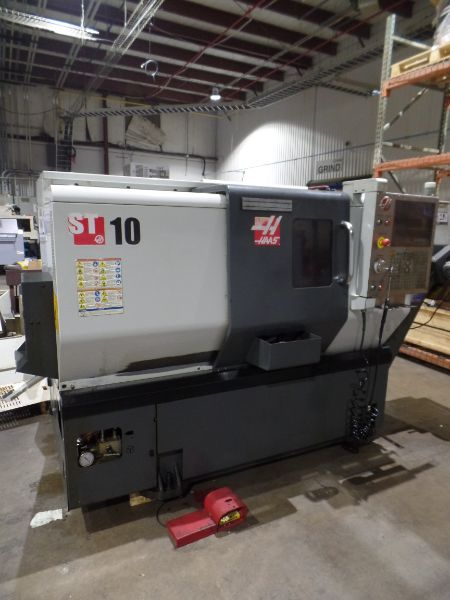 "Haas ST-10 CNC Turning Center, 25.25"" Swing, 16.5"" Length, 1.75"" Bar Capacity, s/n 3094848, New 2013"