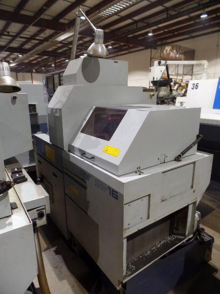 Star SB-16 CNC Swiss Type Automatic Lathe, Fanuc 18iTB Control, New 2003