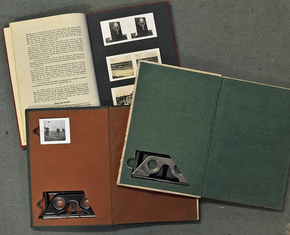Collection of German pre and WWII stereoview books produced by ...