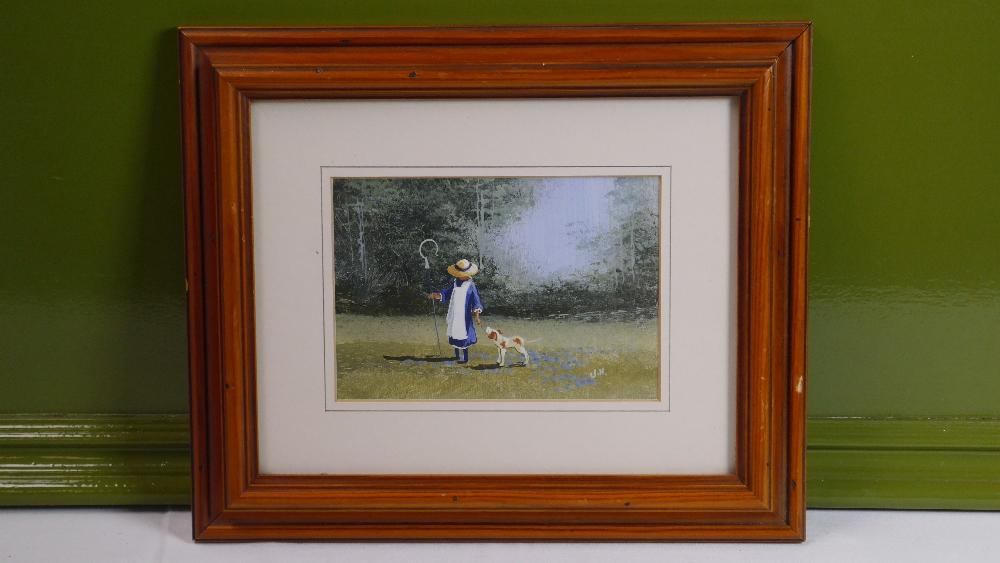 Lot 60 - Vintage Landscape Oil Painting signed J.H