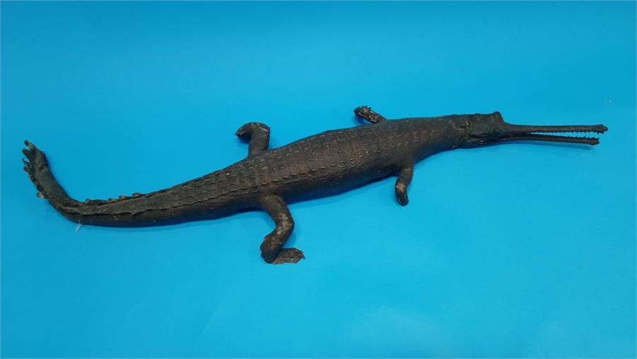 Lot 5 - Taxidermy - a stuffed Crocodile. 92cm long