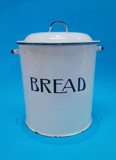 Lot 52 - An enamelled 'Bread' bin.