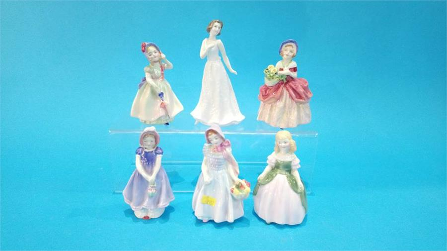 Lot 91 - Six small Royal Doulton figurines of Ladies