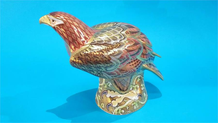 Lot 102 - A Royal Crown Derby 'Golden Eagle', Limited Edition, 146/300, with box and certificate.