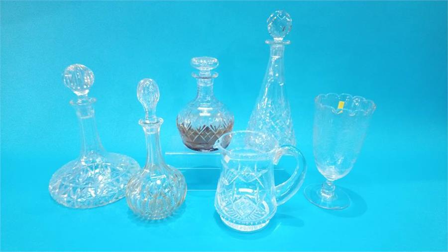 Lot 83 - Quantity of cut glassware.