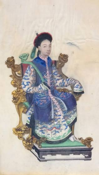 Lot 108 - Three Chinese silkwork paintings.