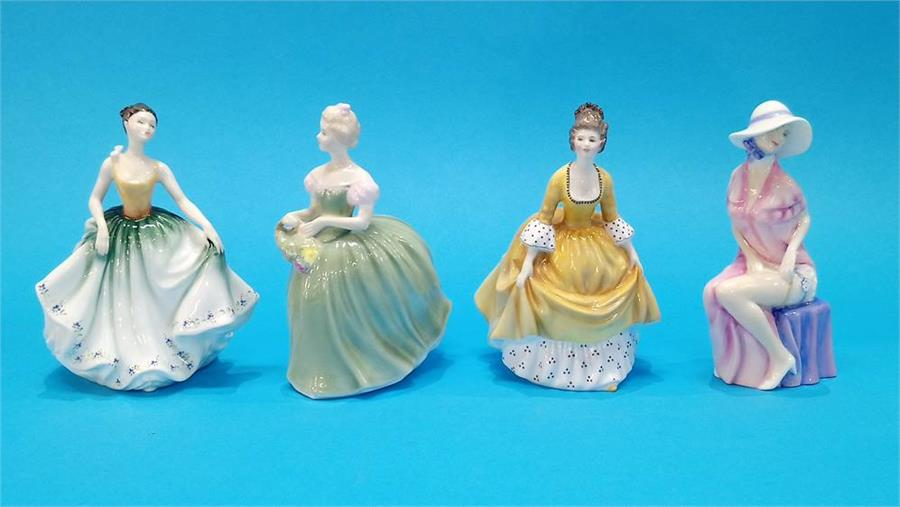 Lot 77 - Four Royal Doulton figurines of Ladies.