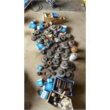 1 large lot of chain sprockets idler, drives
