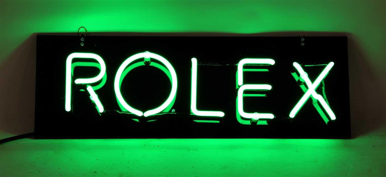 ROLEX NEON SIGN,