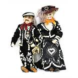 PEARLY KING AND QUEEN DOLLS,