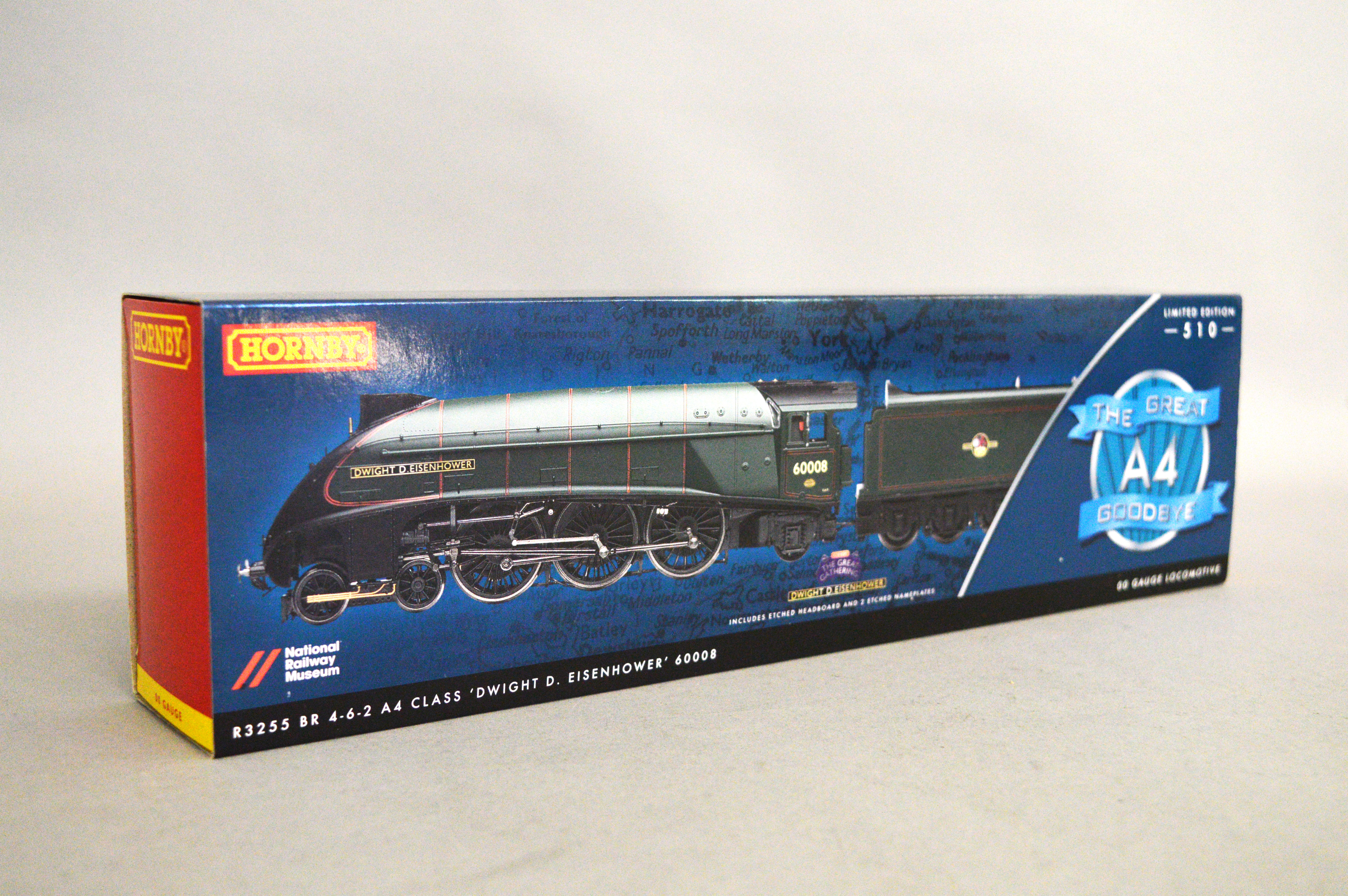 Lot 9 - OO gauge. Hornby R3255 The Great Goodbye A4 Class 4-6-2 BR green Dwight D.