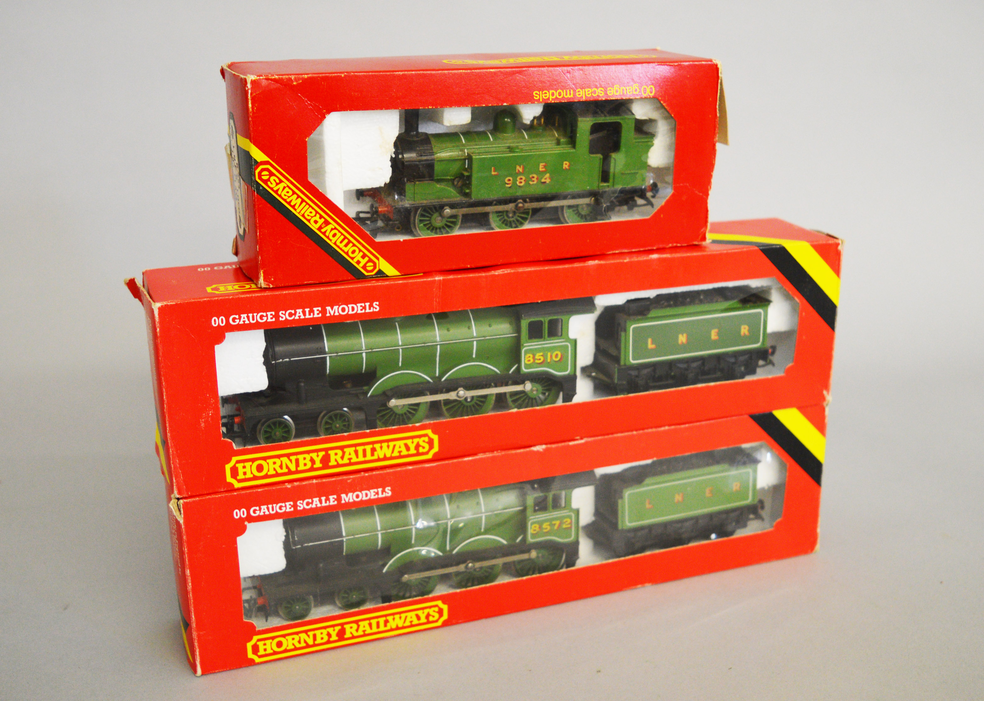Lot 57 - OO Gauge. Three boxed Hornby Railways Locomotives, including an R.