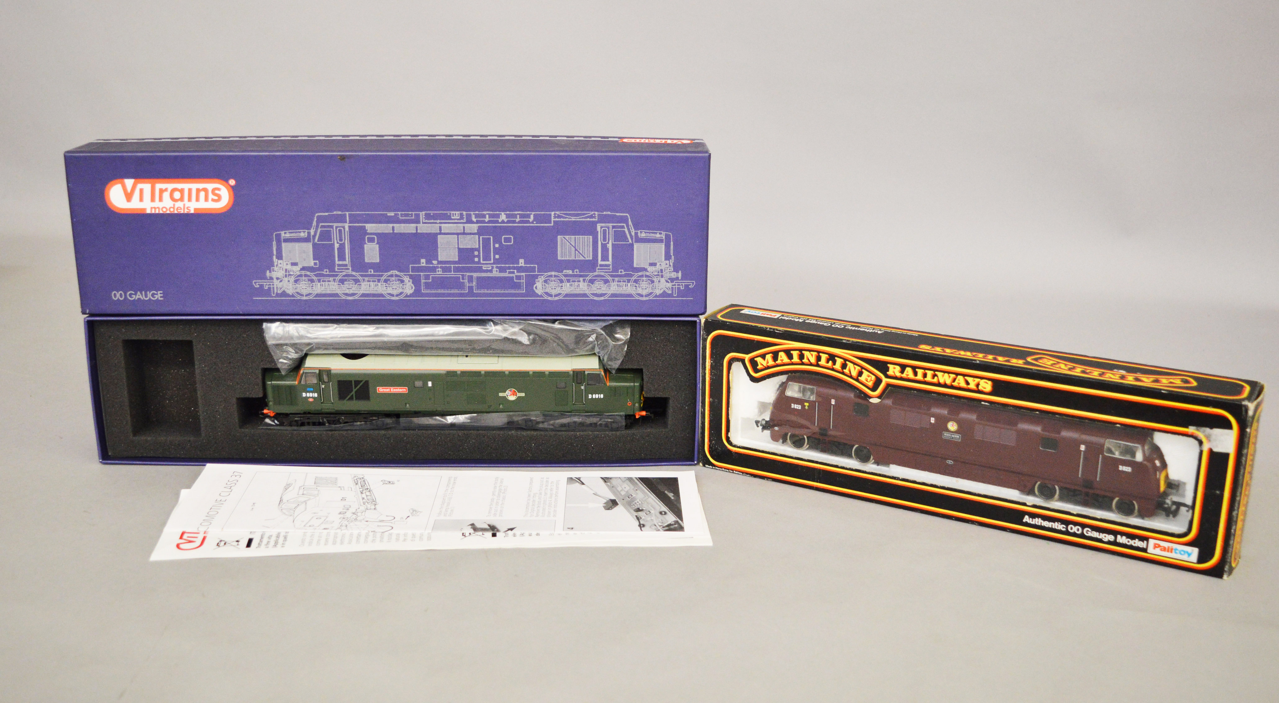 Lot 32 - OO Gauge. Two boxed Diesel Locomotives, ViTrains V2030 Class 37216 'D6916 Great Eastern' B.R.
