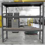"Section 110"" x 34"" x 108""H Steel Shelving"