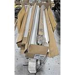 Lot, Fluorescent Light Tubes in (1) Box with (1) Ceiling Light Fixture