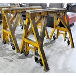 "Pair Bison Model Custom Working Stands, 60"" W x 48"" H x 15,000 Lbs. Capacity, s/n's C05139-01 and"