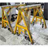 "Pair Bison Model Custom Working Stands, 60"" W x 48"" H x 15,000 Lbs. Capacity, s/n's C01503-1 and"