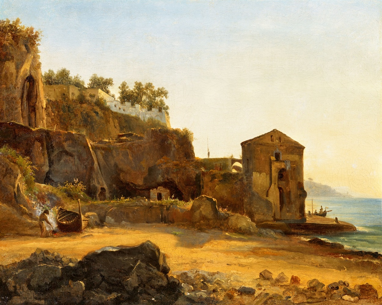 Sylvester ShchedrinThe Coast of SorrentOil on canvas, mounted on wood. 33 x 45 cm.CertificateLuisa