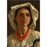 Anselm FeuerbachPortrait of a Young Roman Woman with a Headscarf, possibly NannaOil on canvas (