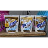 32 off 300g pouches of Vanish Gold OxiAction powder fabric stain remover. IMPORTANT – DO NOT BID