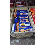 Contents of a crate of Oaties, Breakway, Ginger Rings & other biscuits - crate excluded. IMPORTANT –
