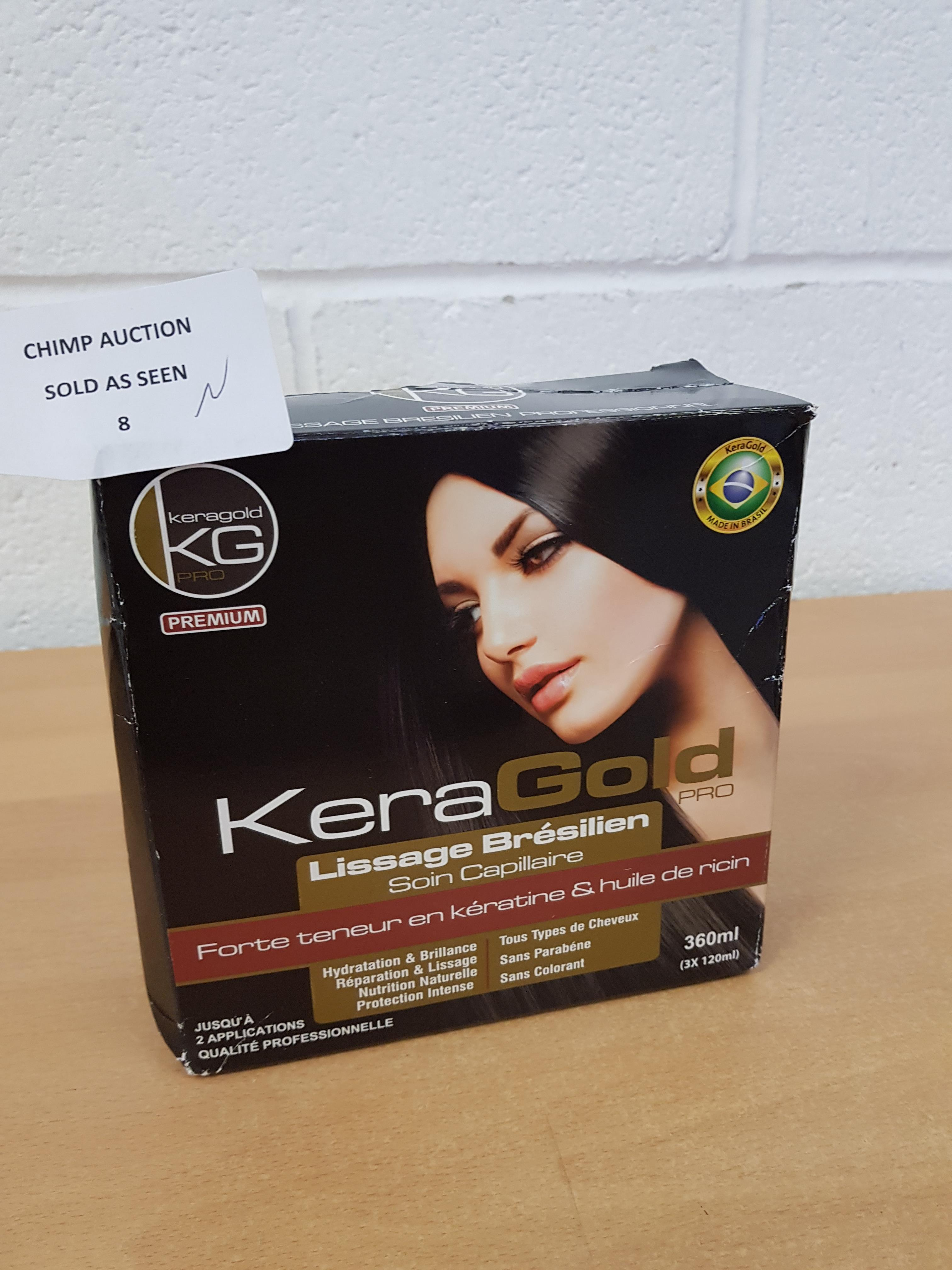 Lot 8 - Brand new KERAGOLD PRO Brazilian Smoothing Conditioner 360 ml
