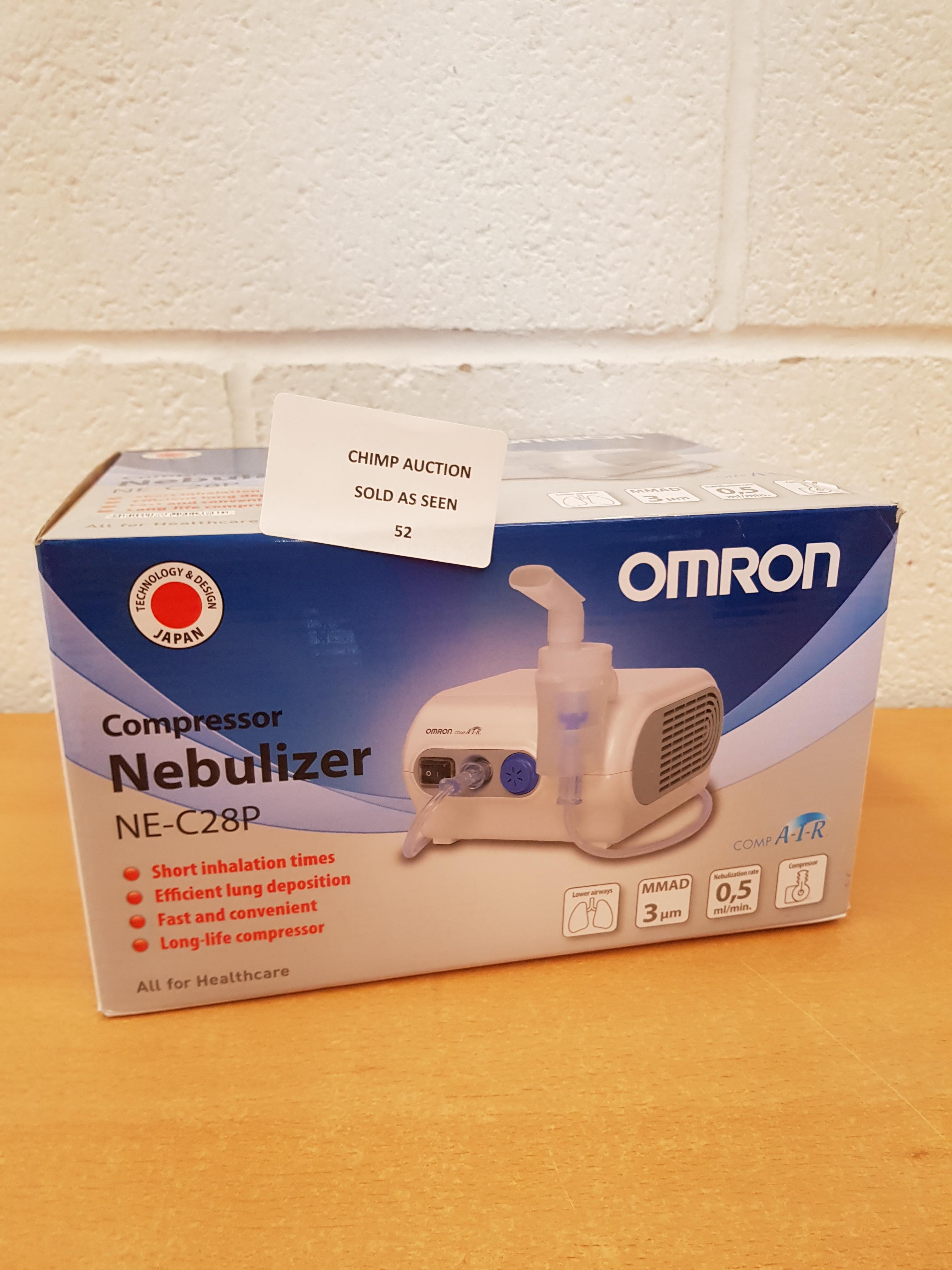 Lot 52 - Omron NE-C28P Compressor Nebuliser RRP £69.99