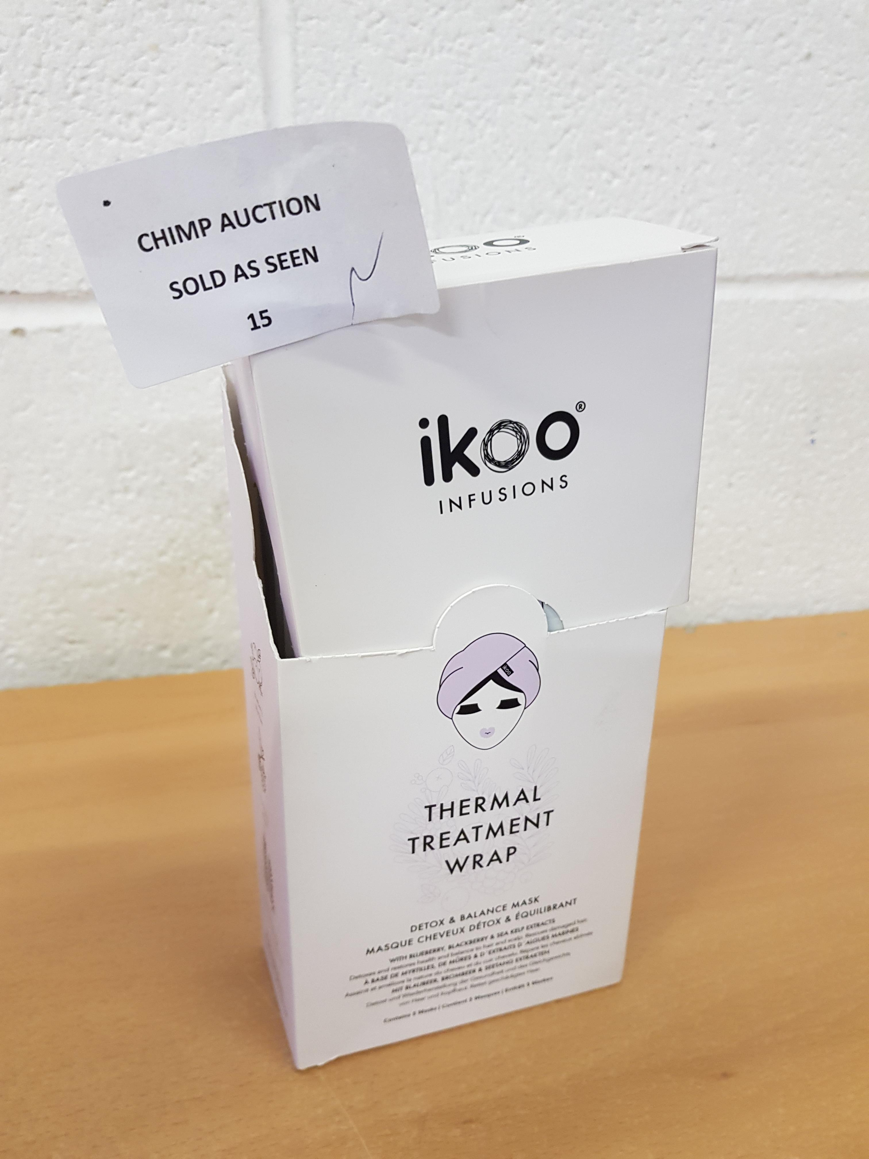 Lot 15 - Ikoo Infusions Thermal treatment wrap Detox - purifying mask RRP £70