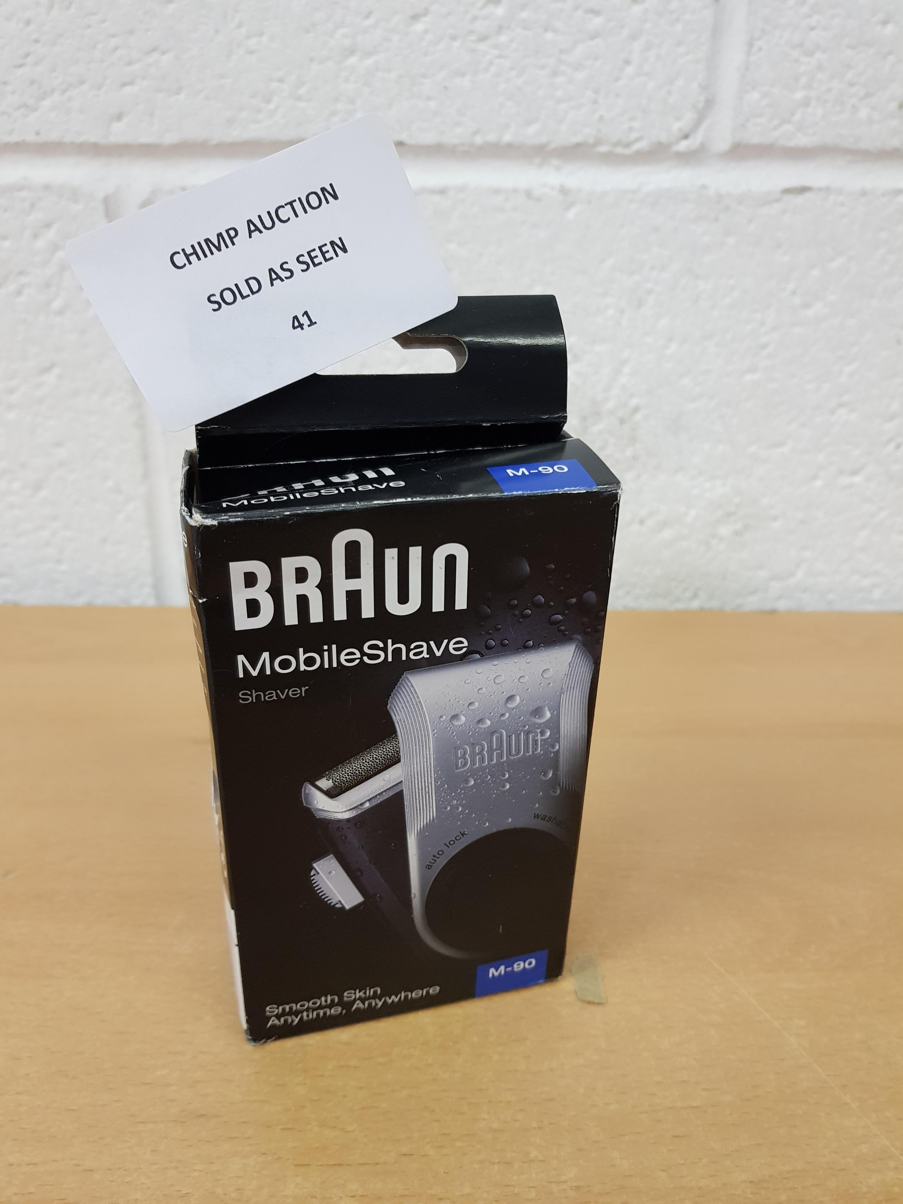 Lot 41 - Braun PocketGo M90 MobileShave Portable Shaver
