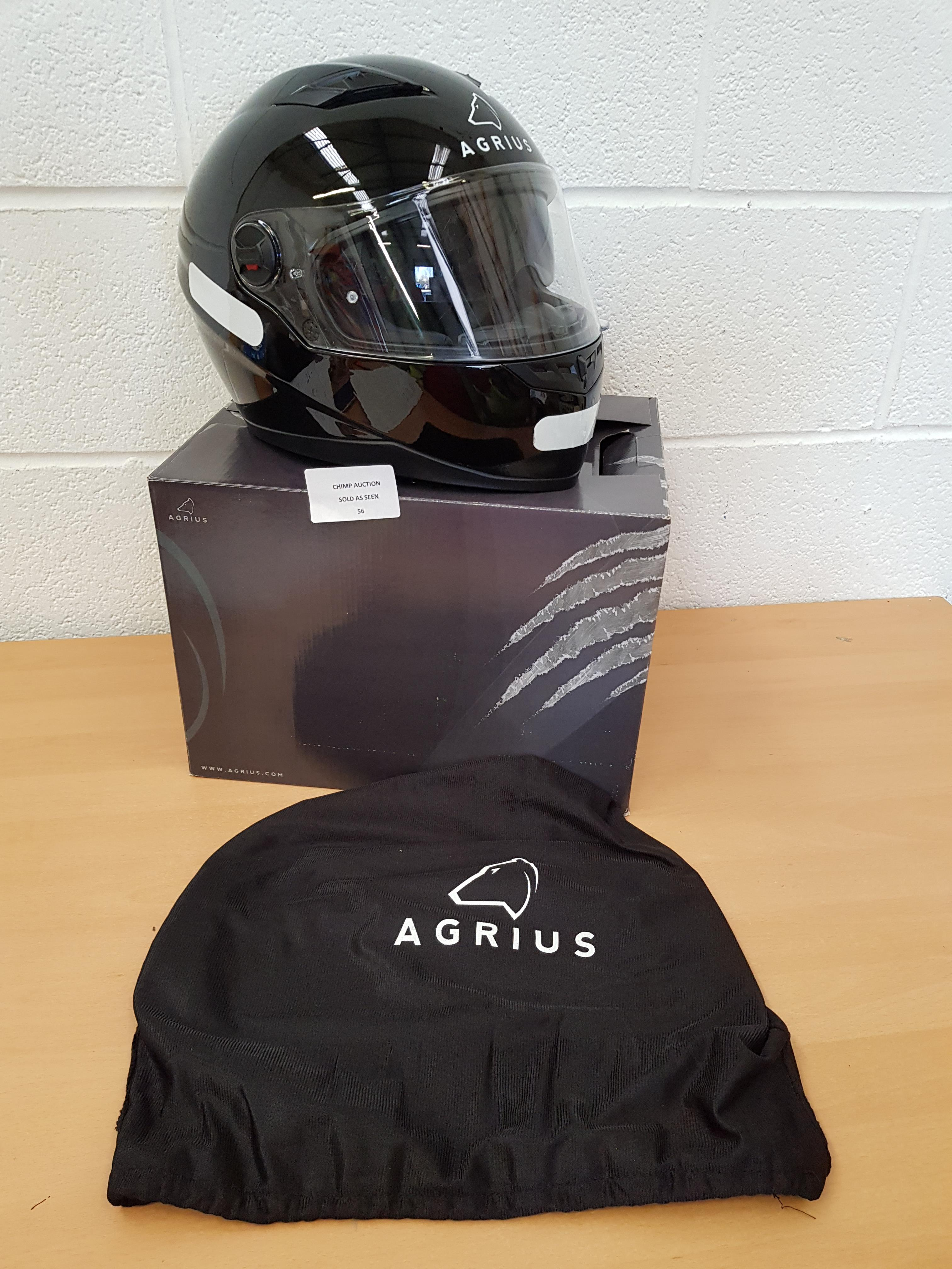 Lot 56 - Agrius Rage SV Solid Motorcycle Helmet XL Gloss