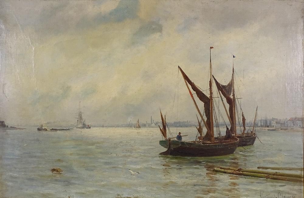 Lot 1020 - Gustave de Breanski (1856-1898), oil on canvas