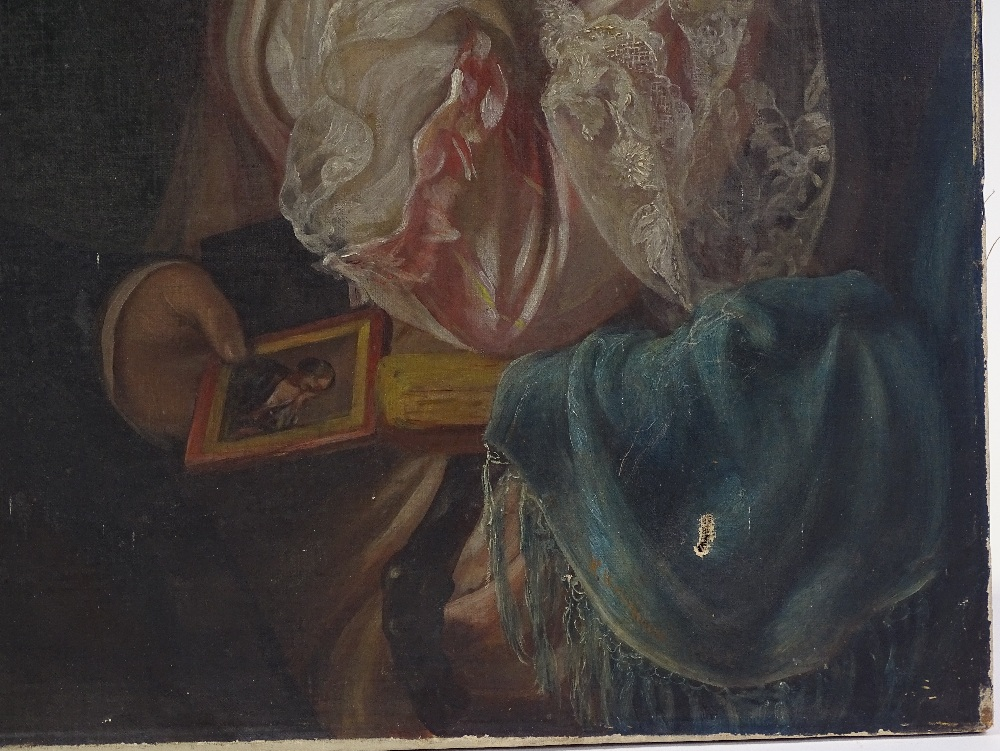 Lot 1016 - A 19th century oil on canvas, a portrait of a coup