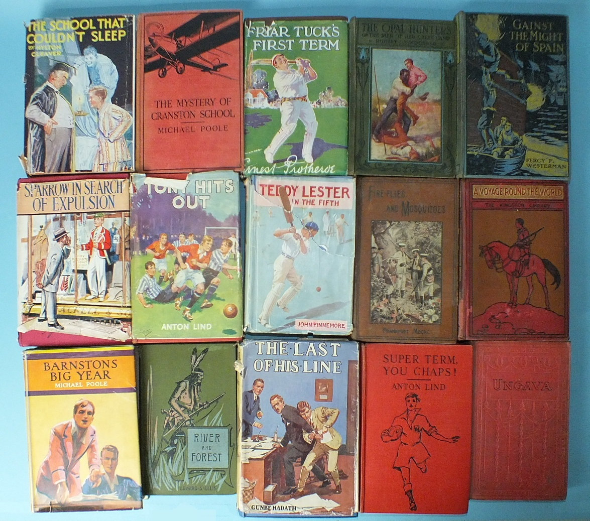 Lot 12 - Westerman (Percy F), 'Gainst the Might of Spain, plts, dec cl, 8vo, nd and fourteen other volumes,