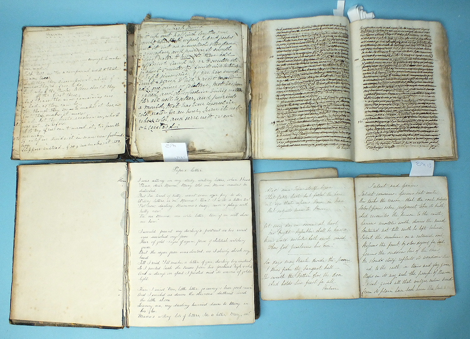 """Lot 123 - An 18th century hand-written collection of six essays on medical conditions, written in French by """""""