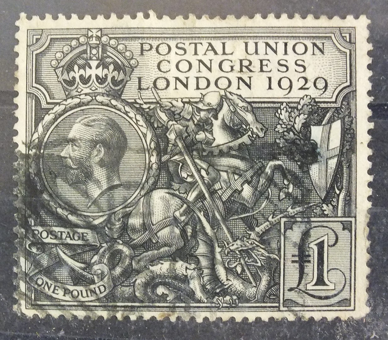 Lot 74 - Great Britain 1929 PUC £1, (good used copy).