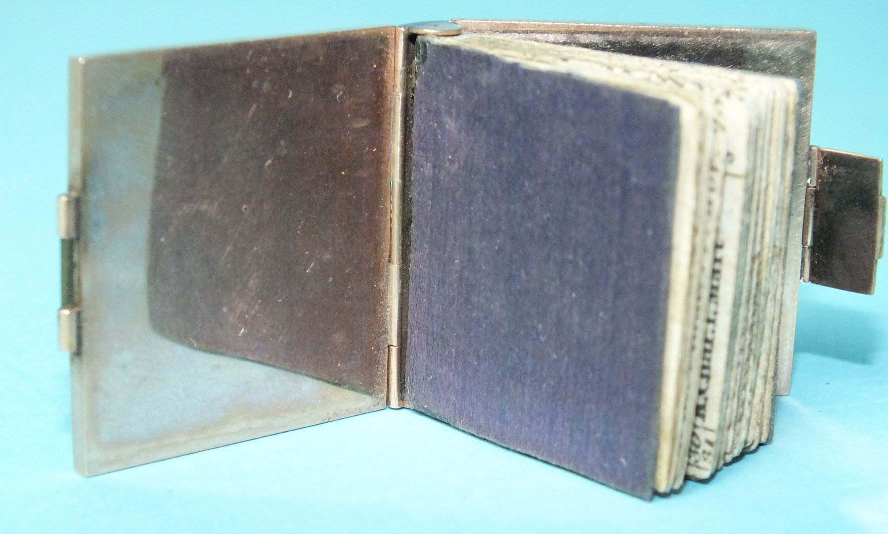"""Lot 33 - A miniature almanac """"London Almanac for the Year of Christ 1801"""", printed for the Company of"""