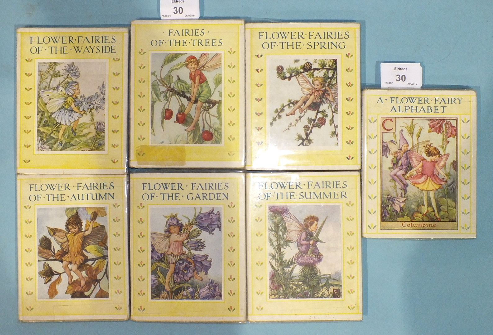 Lot 30 - Barker (Cicely Mary), Flower Fairies, seven volumes, plts, dwrps, bds, 12mo, nd (7).