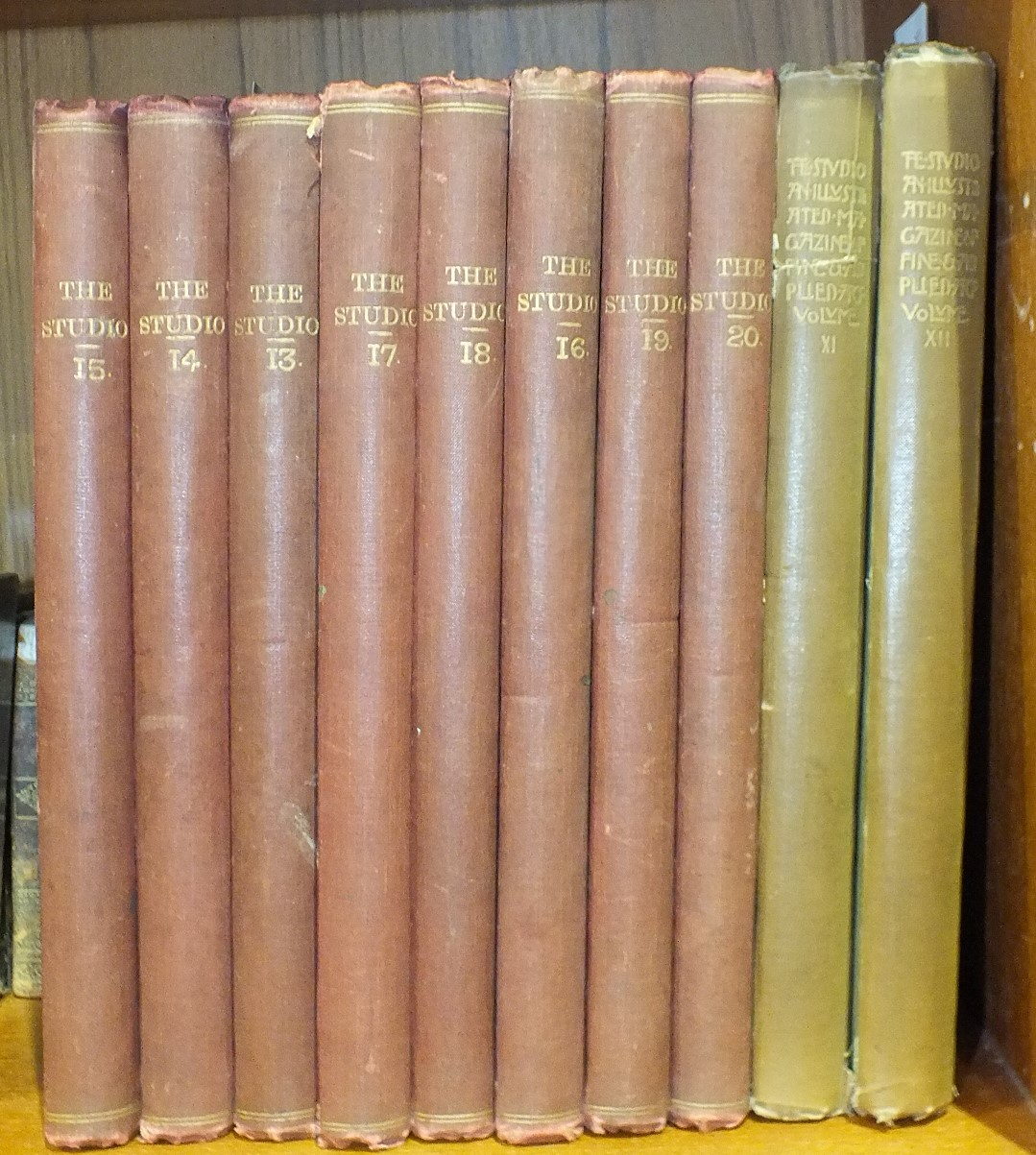 Lot 38 - The Studio, An Illustrated Magazine of Fine and Applied Art, vols 11-20, plts, tissue gds, illus, cl