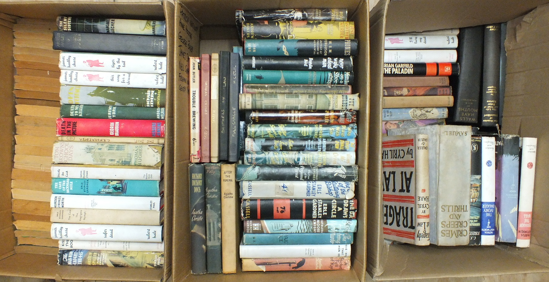 Lot 2 - A quantity of mainly crime novels c1950's, many with dwrps, authors including Andrew Spiller, Agatha